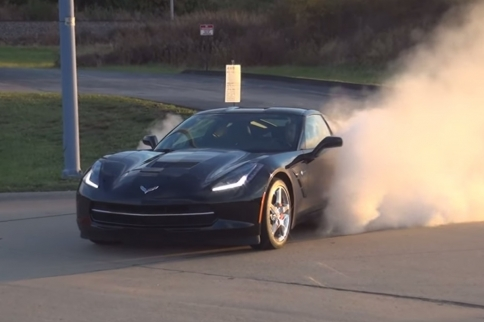 Who Doesn't Love To See A C7 Slaying Tires?