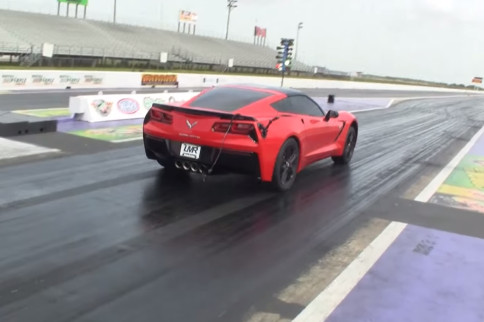 LMR's Twin-turbo C7 Blows Through The Quarter With A 10.2 @ 140 mph