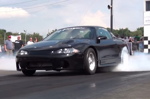Video: Mitsubishi Eclipse Packs a 6.2-Liter Surprise Under the Hood