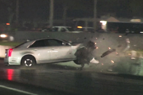 10-Second Cadillac CTS-V Slams The Wall At Orlando Grudge Race