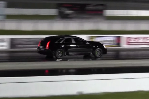 Video: Sleeper CTS-V Wagon Runs 10.90 In The Quarter-Mile
