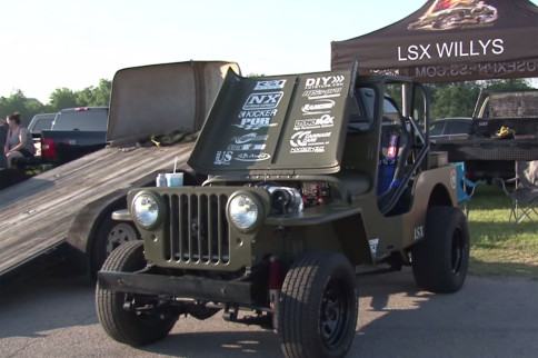 Video: LSX Willys Jeep Goes Up Against BoostedGT In Oklahoma