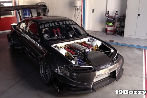 Video: Carbon Fiber Wide Body LS3 Powered Nissan Silvia S14.5