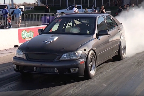 Video: One Brutal Twin Turbo 5.3 Swapped Lexus IS300