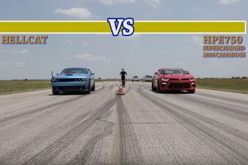 Video: Hennessey Lines Up A 750 HP Camaro Against A Hellcat
